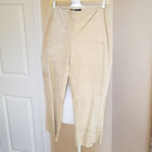 Express suede leather Capri styled pant